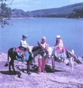 Rando âne : Lac de Chaumeçon en famille