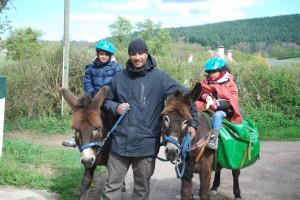 âne et rando: retour de randonnée